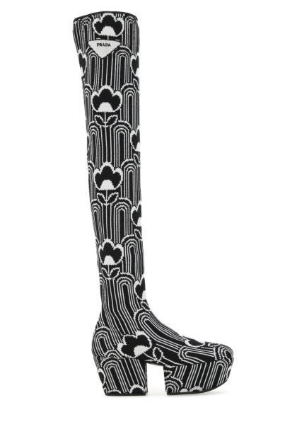 Embroidered fabric boots