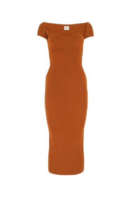 Copper viscose blend dress