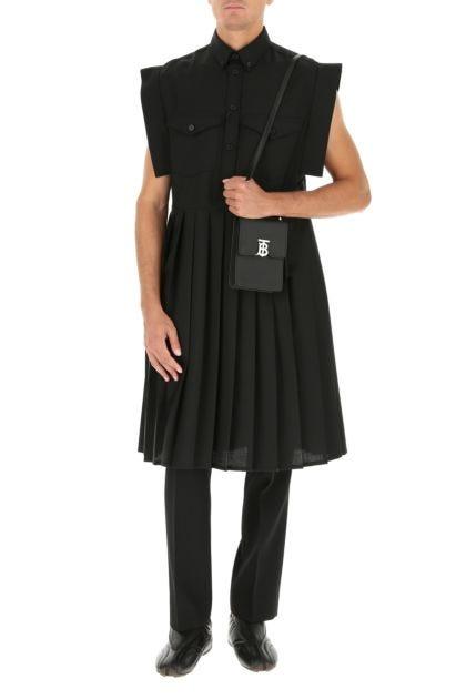 Black leather Robin crossbody bag