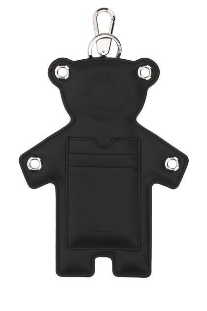 Black leather Thomas Bear charm
