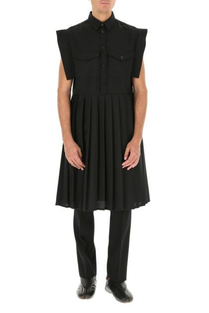 Black mohair blend dress