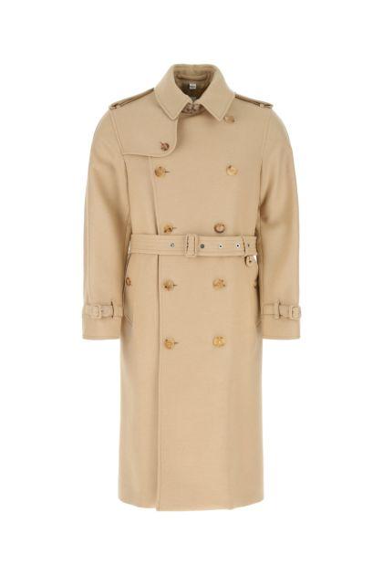 Beige wool blend trench coat