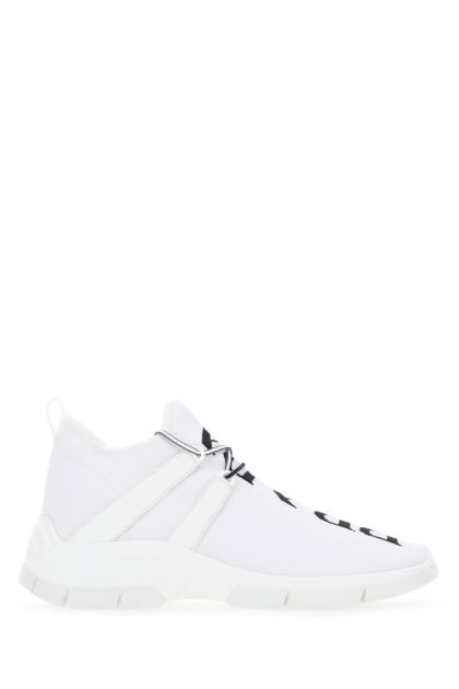 White fabric sneakers