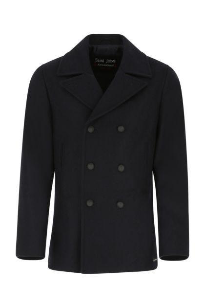 Navy blue wool Galion coat