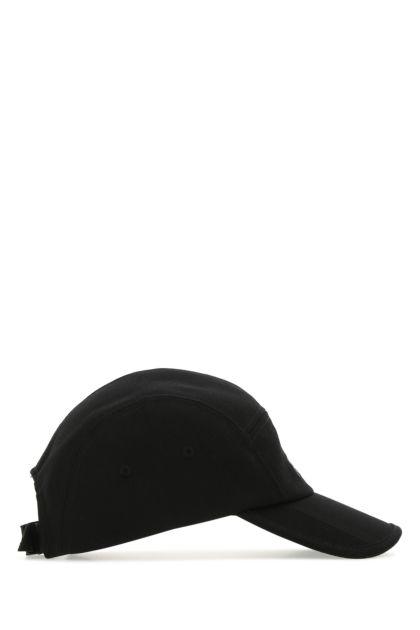 Black canvas baseball cap