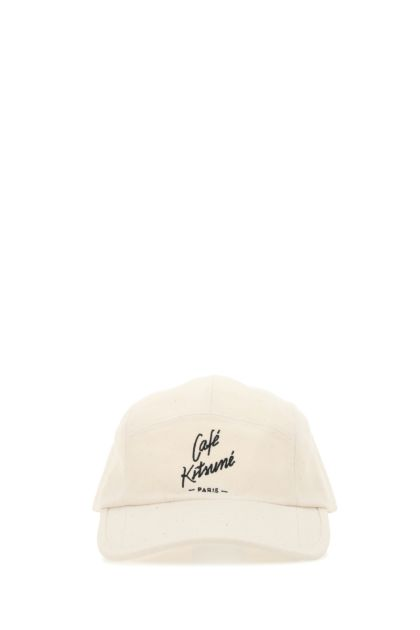 Ivory canvas baseball cap