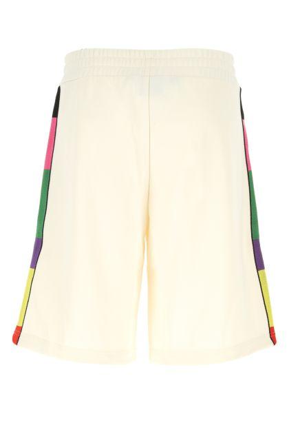 Ivory polyester bermuda shorts