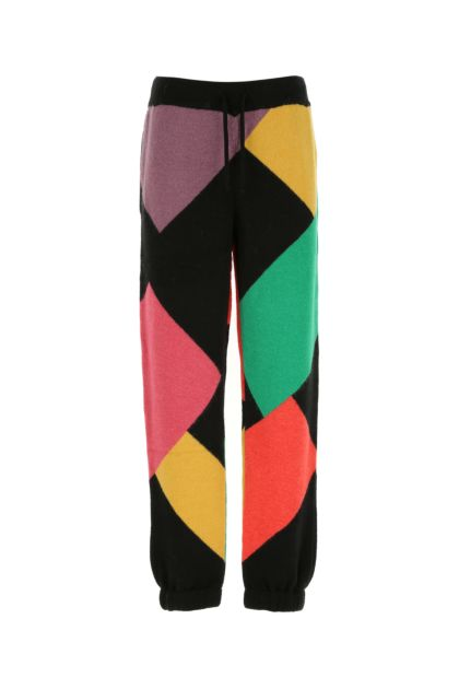 Multicolor stretch nylon blend joggers