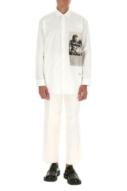 White wool pant