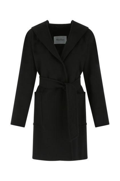 Black wool Rialto coat