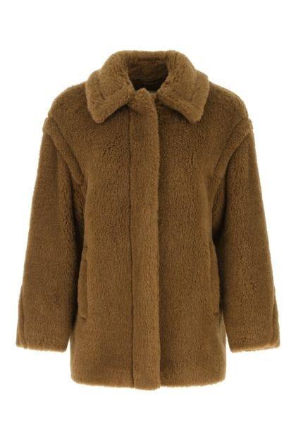Biscuit alpaca blend Viale coat