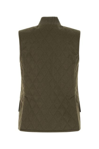 Khaki wool Orafo sleeveless jacket