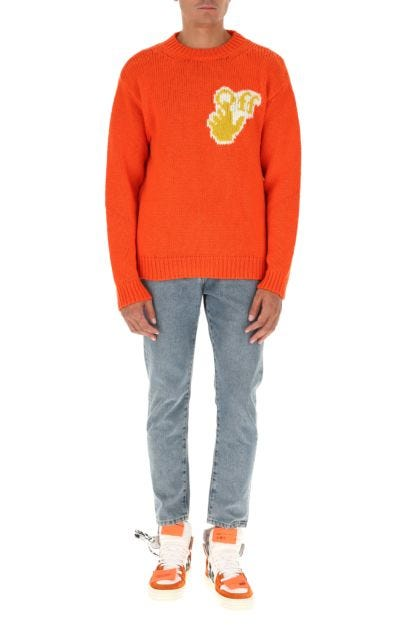 Orange wool blend sweater