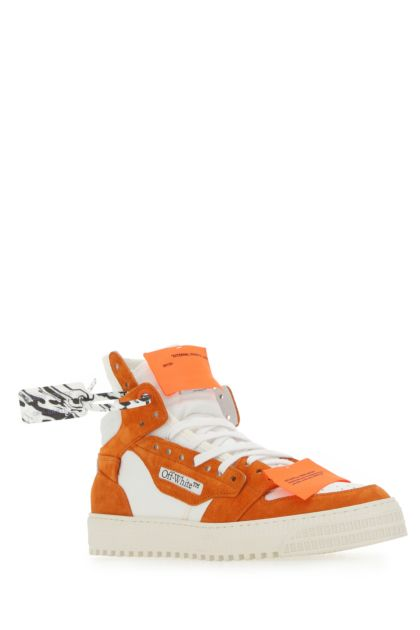 Two-tone suede and fabric 3.0 Off Court sneakers
