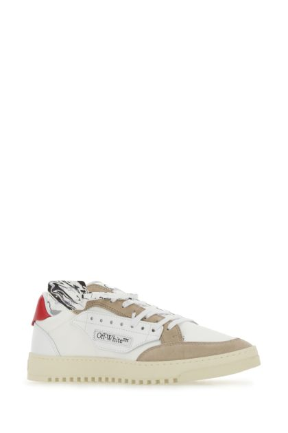 Multicolor canvas and suede Vulcanized sneakers