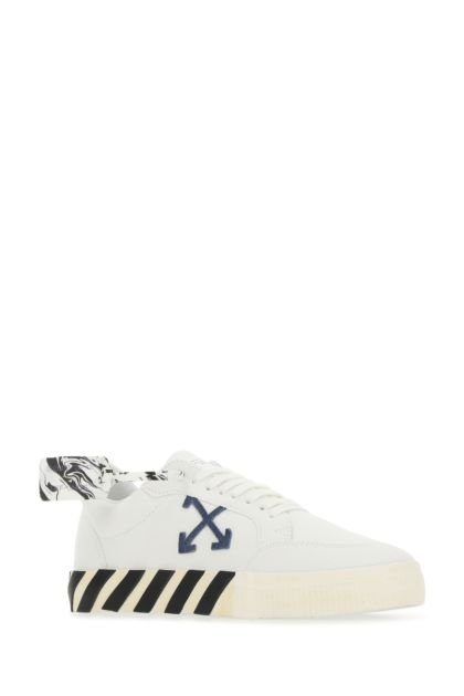 White canvas Vulcanized sneakers
