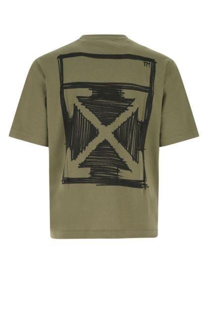 Military green cotton t-shirt
