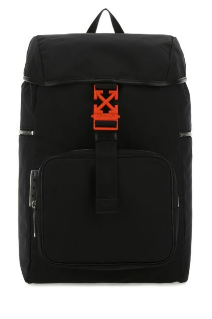 Black fabric backpack