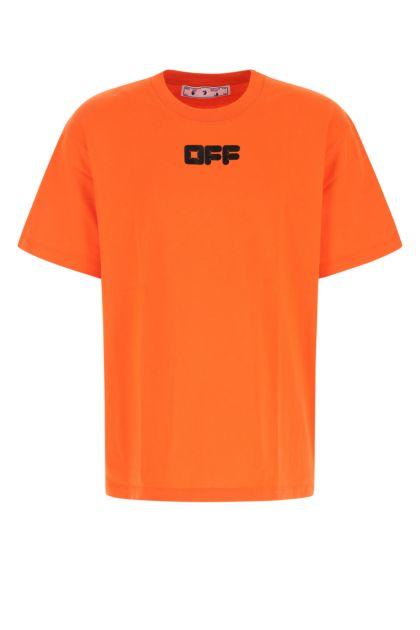 Orange cotton t-shirt