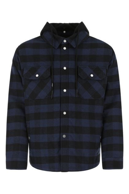 Embroidered flannel padded jacket
