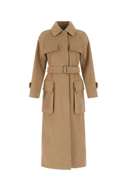 Cappuccino wool Gang trench coat