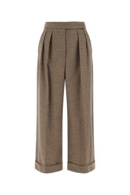 Embroidered stretch wool blend Vanda pant