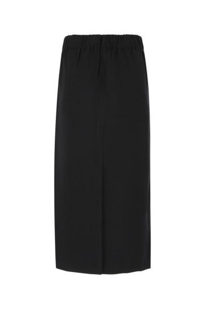 Black stretch viscose skirt