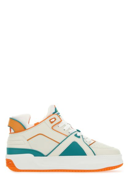 Multicolor leather and neoprene Courtside Mid sneakers