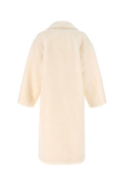 Ivory Maria eco fur coat