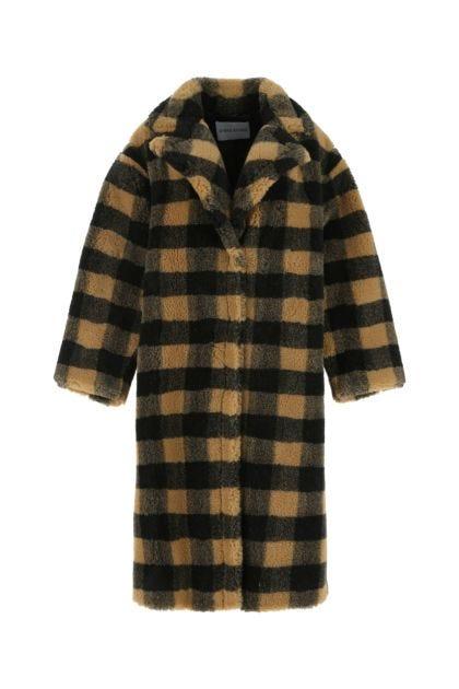 Printed Maria eco fur coat