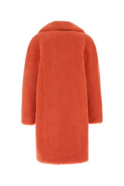 Coral Camille Cocoon eco fur coat