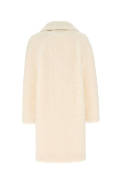 Ivory Camille Cocoon eco fur coat