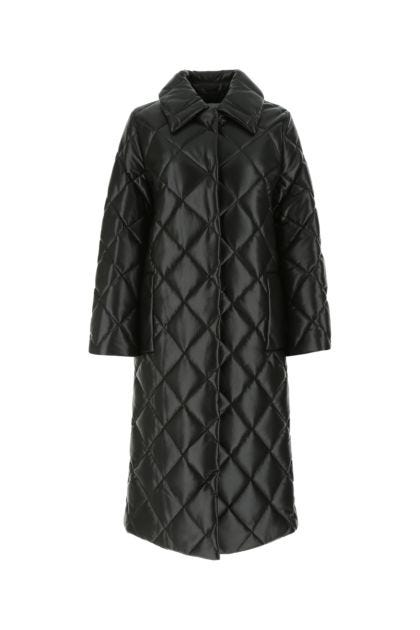 Black synthetic leather Dorothea coat