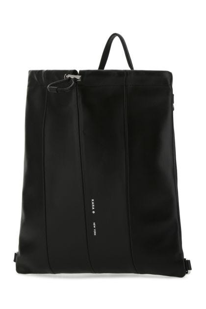 Black nappa leather backpack