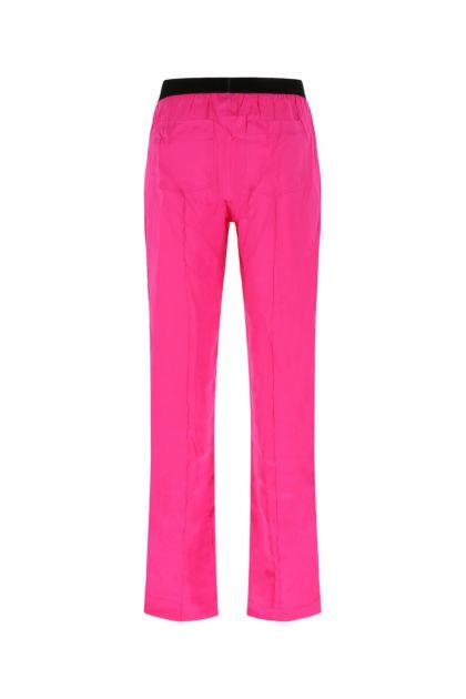 Fuchsia stretch silk pyjama pant
