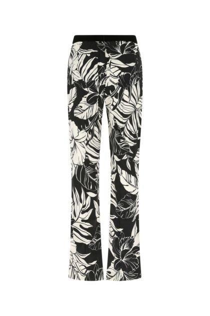 Printed stretch silk pyjama pant