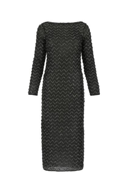 Black viscose blend dress