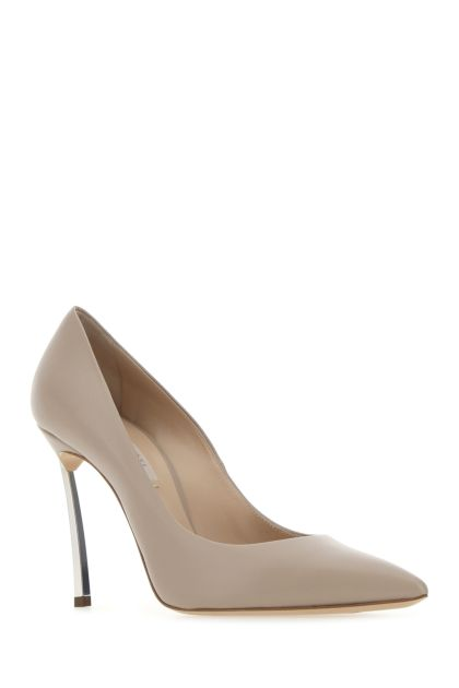 Powder pink leather Maxi Blade pumps