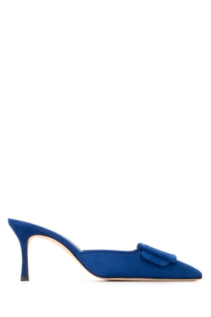 Electric blue suede Maysale mules
