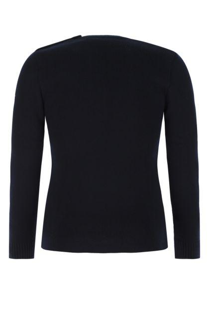Dark blue wool sweater