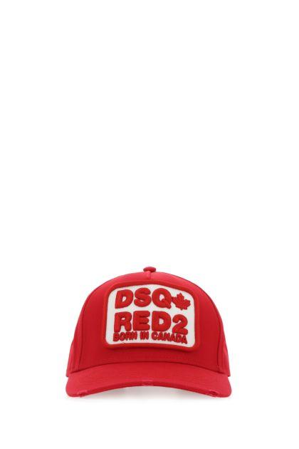 Red cotton baseball cap