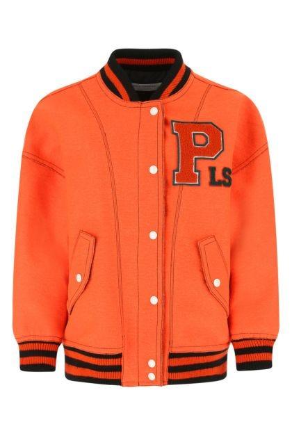 Orange felt bomber jacket