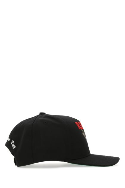 Black cotton blend baseball cap