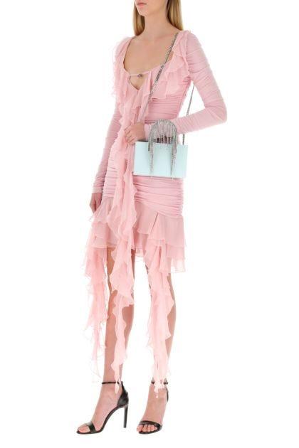 Pink stretch viscose dress