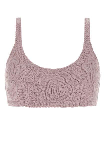 Antiqued pink wool top