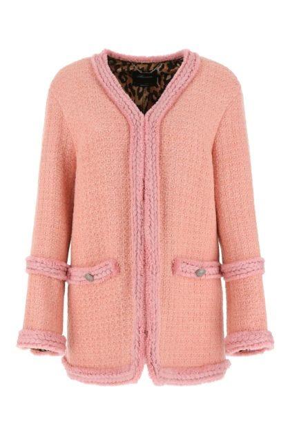 Pink bouclé blazer