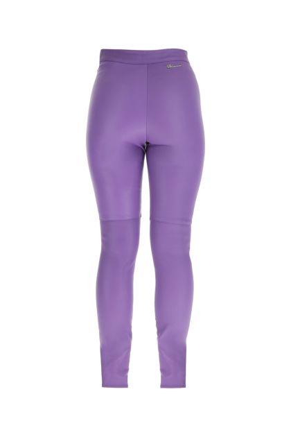 Lilac leather leggings