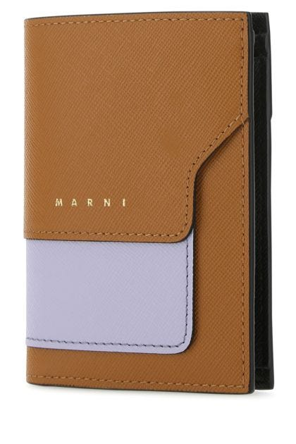 Multicolor leather wallet
