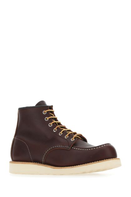 Chocolate leather lace-up shoes