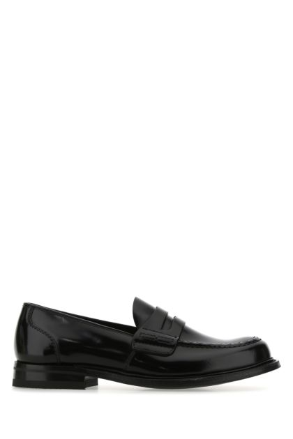 Black leather Farsley loafers